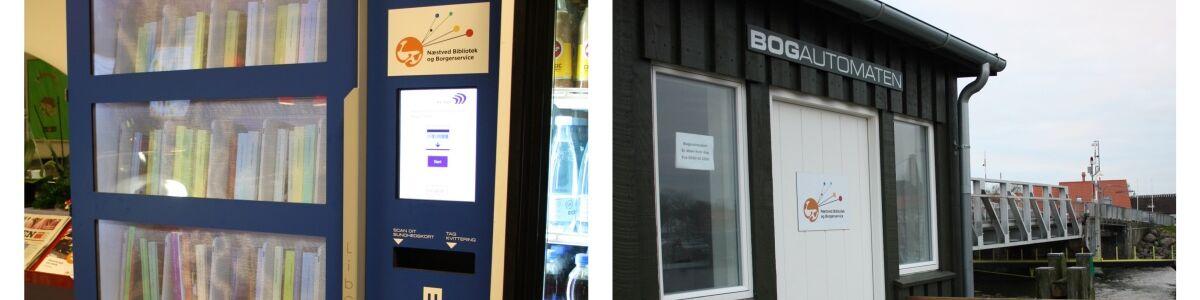 Billede af bogautomater