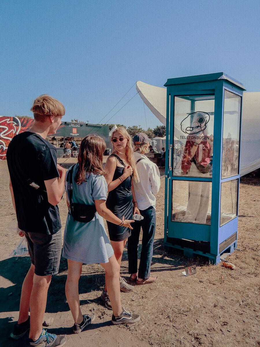 """""""Telefonboksen"""" på Roskilde Festival"""