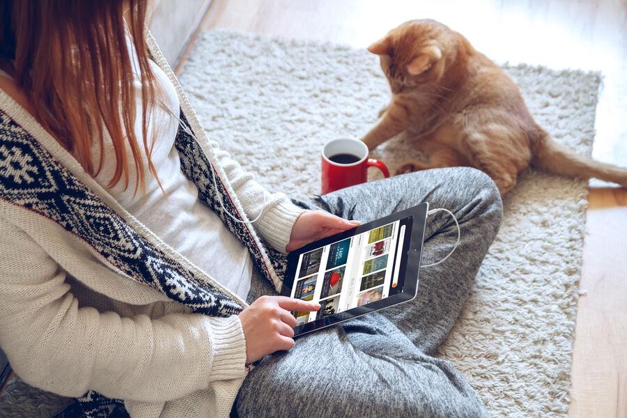 Billede af appen på en smartphone