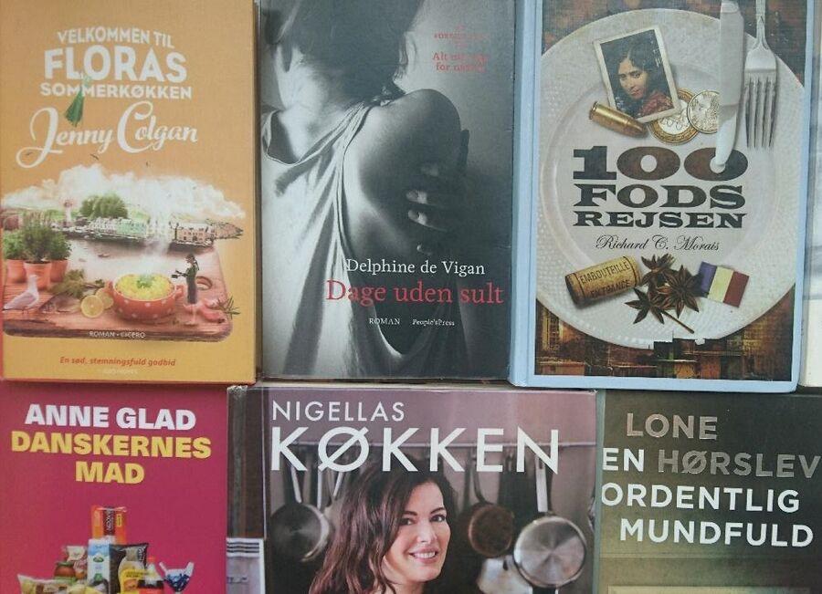 Dage uden sult sammen med andre bøger om mad