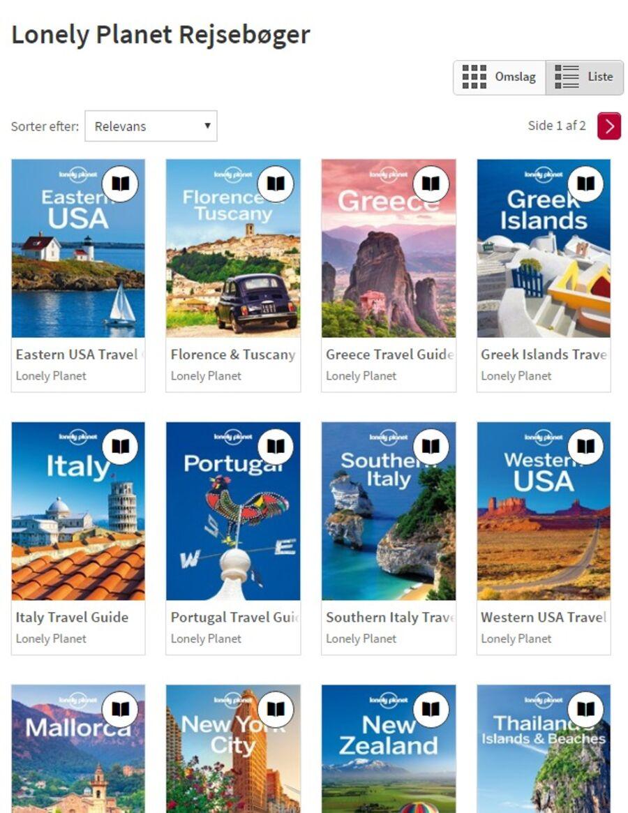 Lonely Planet-rejsebøger på eReolen Global