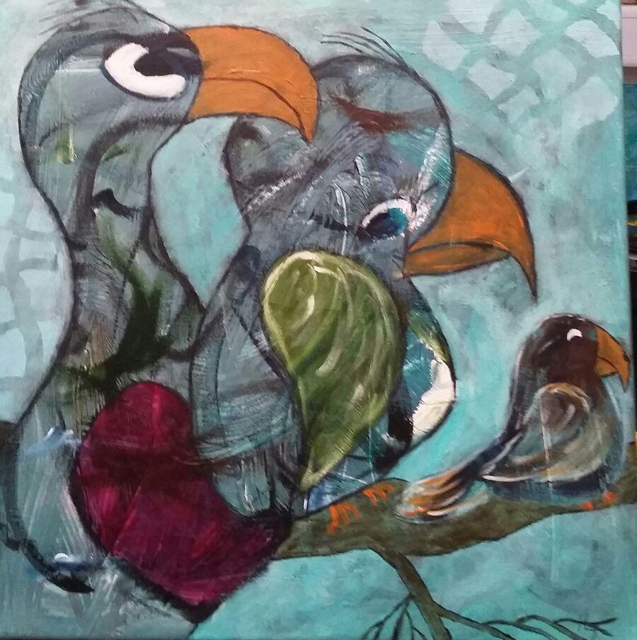Maleri lavet af Hanne Lebæk Jakobsen