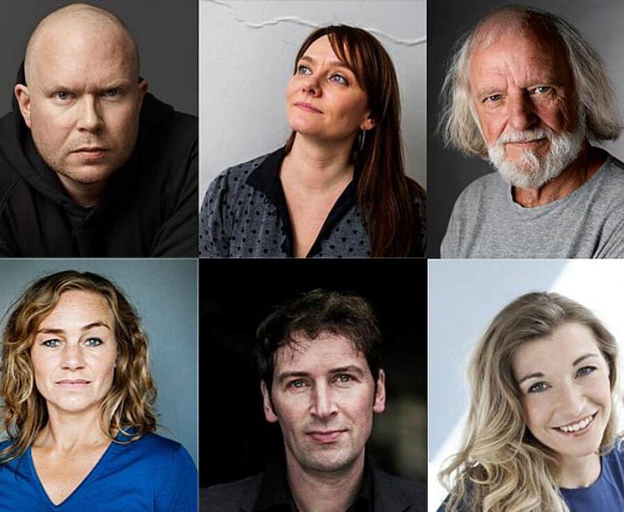 Billede af de nominerede forfattere