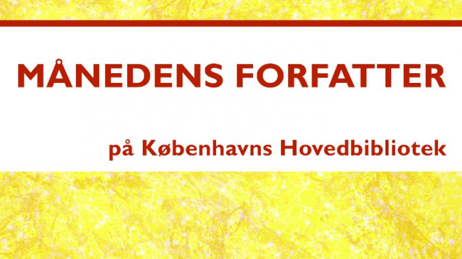 """Logo for """"Månedens forfatter"""" litteraturpodcast"""