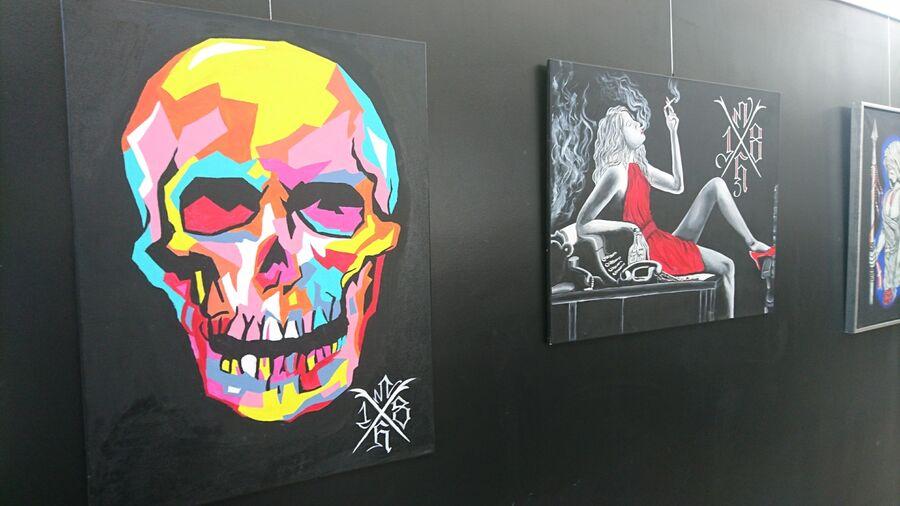 Maleriudstilling af indsat i Næstved Arrest