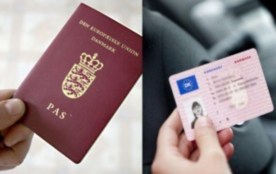 Tryk for at ansøge om og bestille tid til pas og kørekort