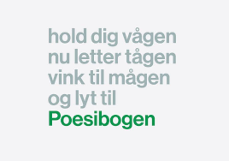 Logo for Poesibogen på Radio24Syv