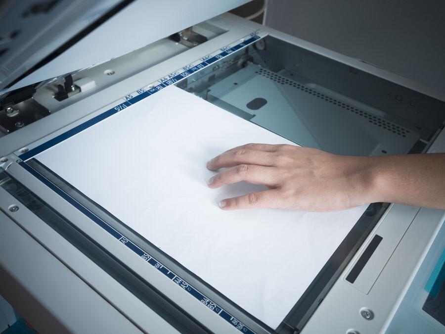 Billede af kopimaskine