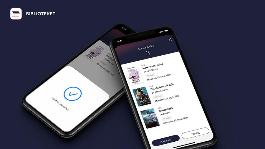 Scan og lån i appen Bibliotek