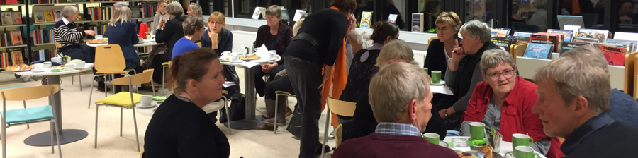Foto fra borgermøde på Fuglebjerg Bibliotek