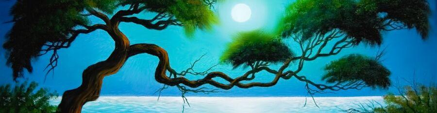 Billede fra et fantasy-landskab