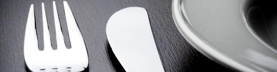 Billede af kniv og gaffel