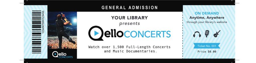 "Qello Concerts ""billet"""