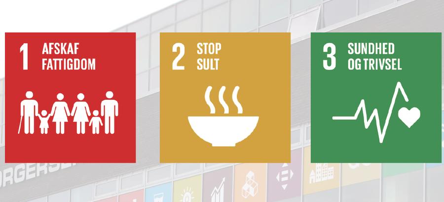 FN's Verdensmål 1, 2 og 3
