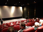 Foto i biografen før filmen vises