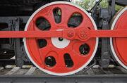 Foto af store jernbanehjul