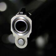 Billede af en pistol